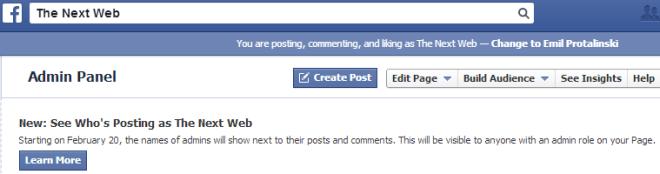 fb_page ADMIN name