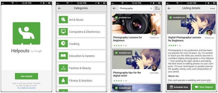 قوقل تطلق تطبيق هيلب أوتس على iOS