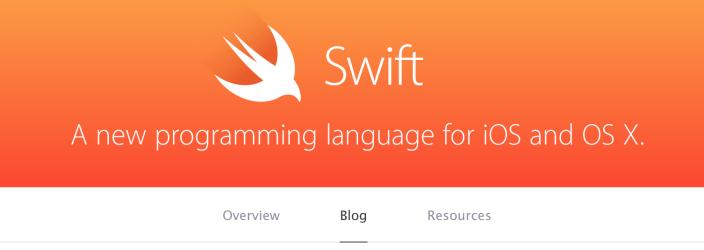 مدونة سويفت آبل تطلق مدونة رسمية للغة البرمجة Swift