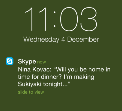 Skype now lets you receive chat notifications