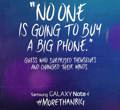 gsmarena 0011 سامسونج تسخر من إطلاق هاتف آيفون 6 بشاشة كبيرة