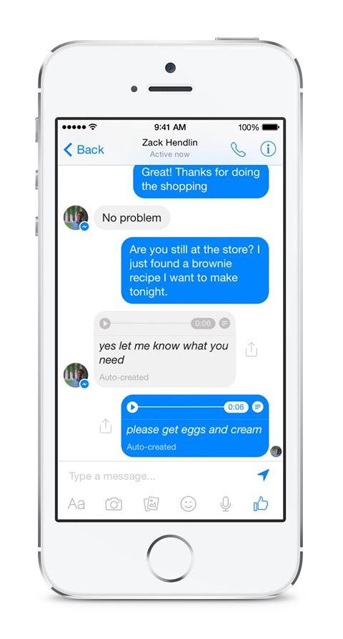 فيس بوك تختبر ميزة عرض الكلام المنطوق في الرسائل الصوتية