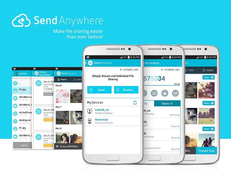 Send Anywhere لنقل وإرسال الملفات بين جميع أنظمة التشغيل