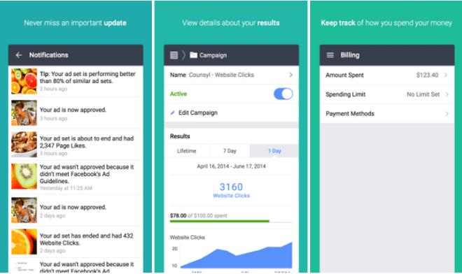 فيسبوك تطلق Facebook Ads Manager لإدارة الإعلانات على أندرويد