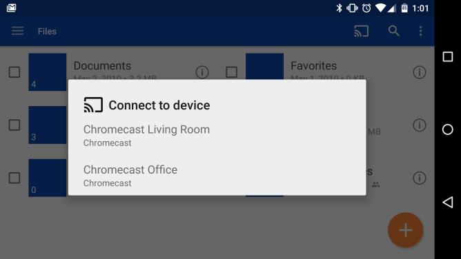 تحديث تطبيق السحابي OneDrive يدعم أخيرًا جهاز Chromecast