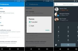 تطبيق جهات الإتصال Truedialer في أندرويد يجلب لغة ماتيريال ديزادين