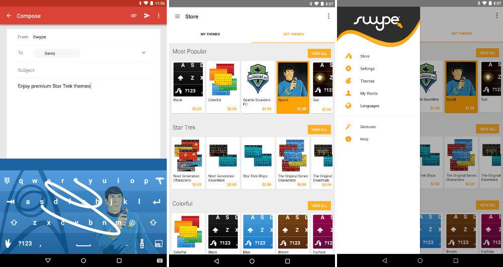 تحديث لوحة مفاتيح Swype مع ميزة التنبؤ بالرموز التعبيرية وأكثر