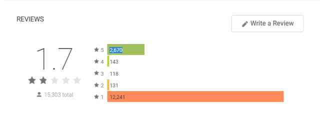 تطبيق أبل الجديد على أندرويد يحصل على تقييم سيء جدًا