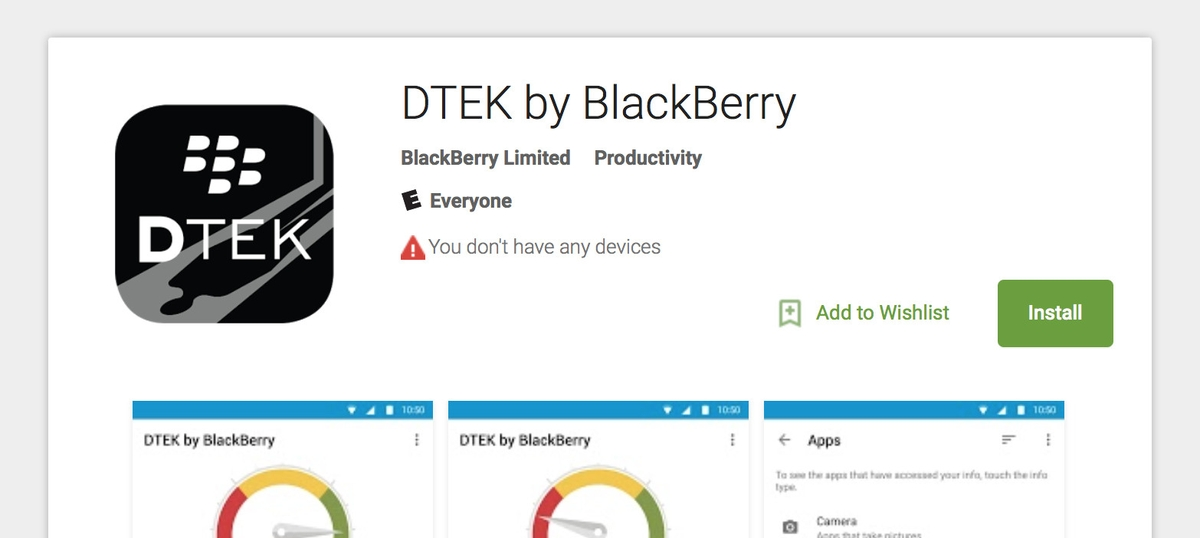 DTEK by BlackBerry