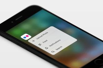 تطبيق فليكر على iOS يدعم الآن خاصية البحث Spotlight و 3D Touch