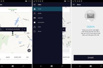 تطبيق Uber يجلب تصميم جديد والدعم لويندوز فون 10