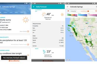 تحديث تطبيق الطقس AccuWeather على أندرويد يُجلب تصميم وواجهة جديدة