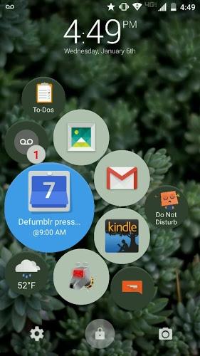 """تطبيق Defumblr شاشة قفل بأيقونات عائمة """"مميز"""""""