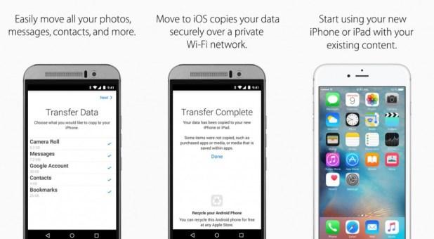 تطبيق Move to iOS للإنتقال إلى آيفون