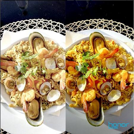 مقارنة وضعية التصوير Food mode