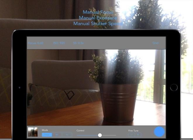 ReliCam على iOS للتحكم اليدوي بتركيز الكاميرا والتعرض وأكثر