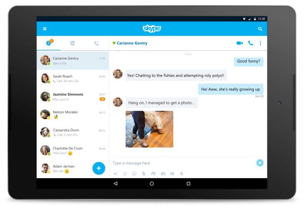 تحديث تطبيق سكايب على أجهزة أندرويد اللوحية يجلب تصميمًا جديدًا