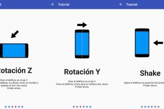 تطبيق Gravity Gestures يوفّر لك 4 حركات لهاتفك كل حركة تجلب وظيفة محددة