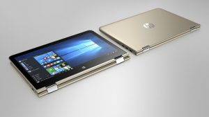 HP Pavilion x360 13.3_ Modern Gold_ multiple view
