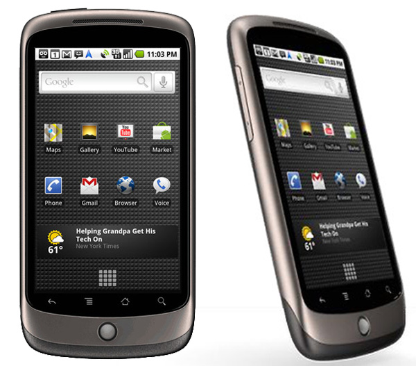 Nexus One أول هاتف من سلسلة نكسوس ومن صنع HTC