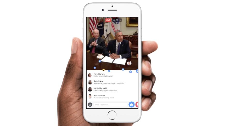 فيس بوك البث المباشر