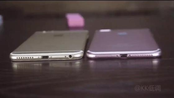 على اليمين آيفون 7 بلس - على اليسار آيفون 6 اس بلس