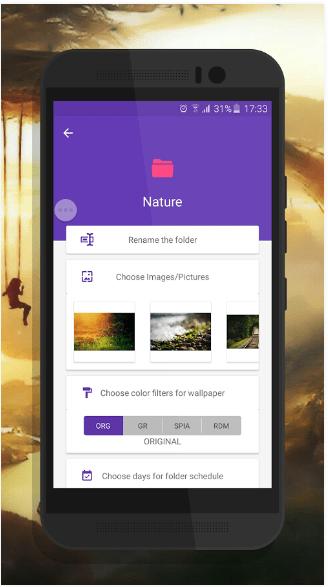 تطبيق CLARO لجعل خلفية شاشة جهازك الأندرويد تتغير مع مرور الوقت