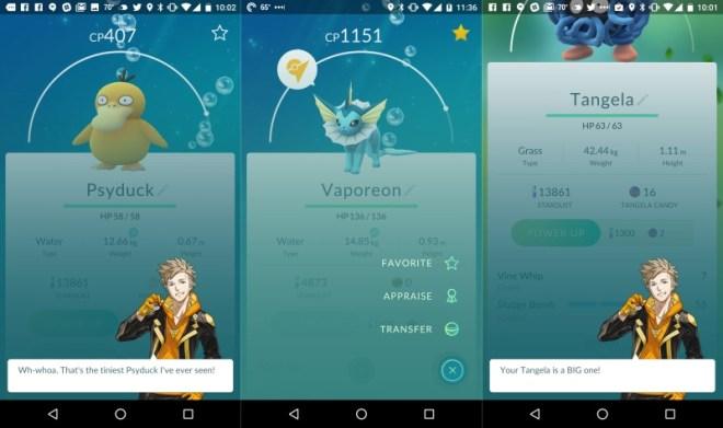 لعبة بوكيمون جو على اندرويد و iOS تجلُب خيار تقييم البوكيمونات