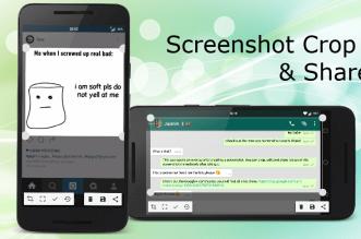 تطبيق Screenshot Crop & Share لأخذ سكرين شوت وتحرير الصورة