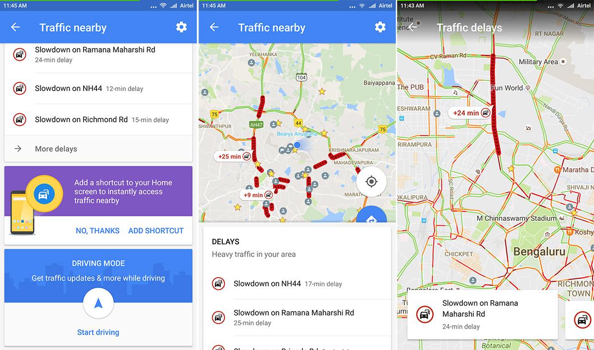 خرائط قوقل على أندرويد تضيف إختصار جديد لمعرفة حركة المرور
