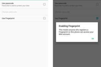 تطبيق حساب المصاريف في أندرويد Mint يدعم الآن بصمة الأصبع