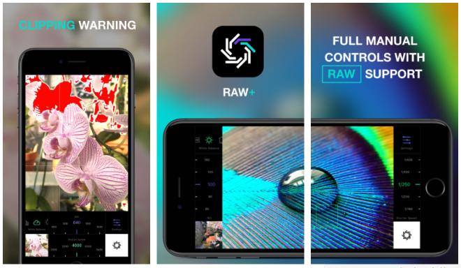تطبيق RAW+ على آيفون لتصوير صور الخام وضبطها يدويًا
