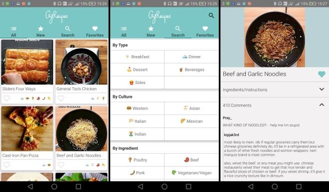 Gif Recipes تطبيق وصفات الطعام بصور متحركة على أندرويد