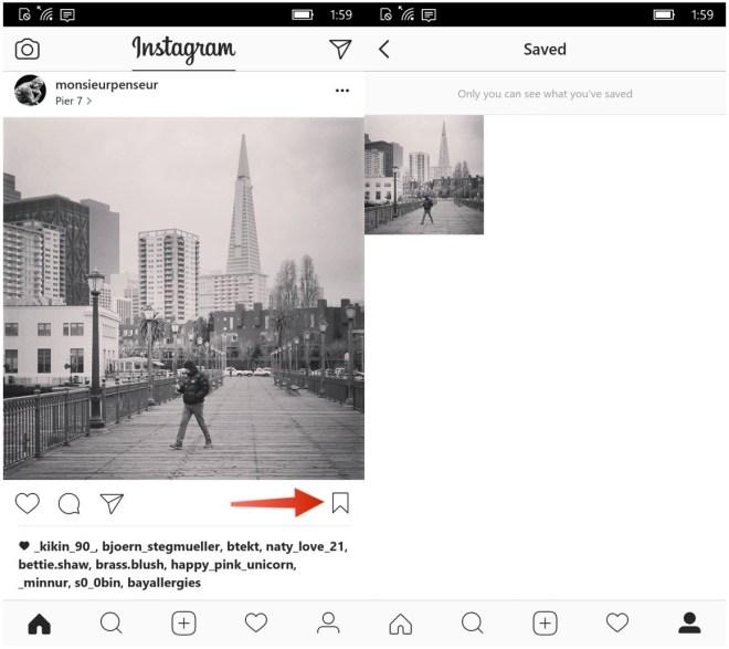 على ويندوز 10 موبايل انستغرام يدعم الآن حفظ الصور داخل التطبيق