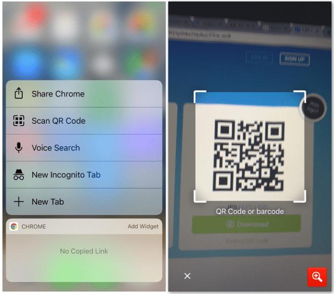 تحديث متصفّح كروم على iOS يدمج ماسح أكواد QR في المتصفّح