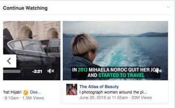 متابعة المشاهدة فيس بوك