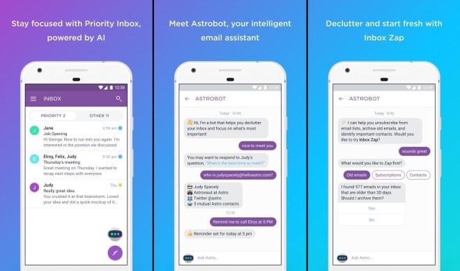 Astro تطبيق جديد لإدارة وتنظيم بريدك الإلكتروني