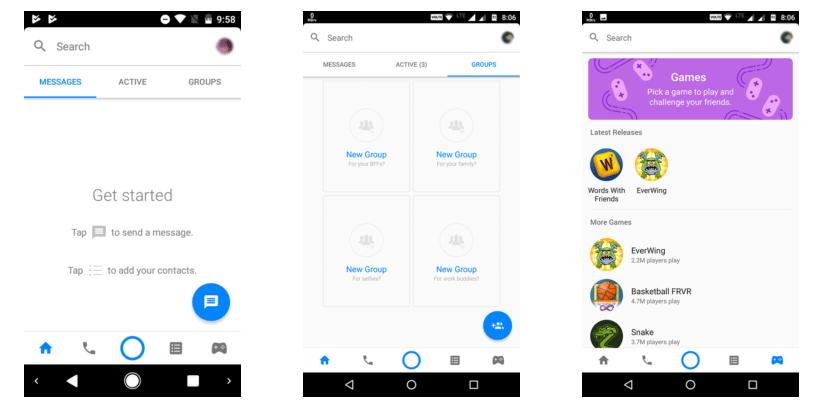 فيسبوك تختبر واجهة جديدة لمسنجرها مع إضافة قسم الألعاب الفورية