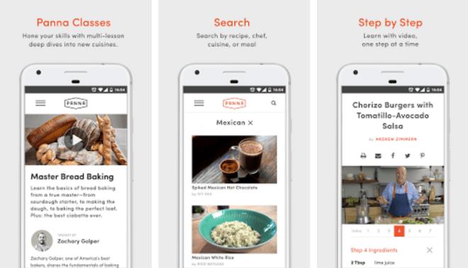 تطبيق Panna Recipes مع أكثر من 400 وصفة طبخ للمبدئين