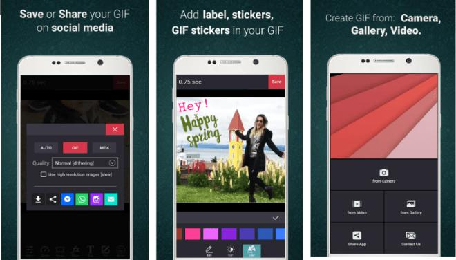 """تطبيق GifCam لإنشاء صور متحركة """"GIF"""" وإضافة التأثيرات عليها"""