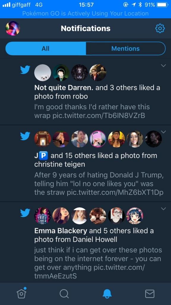 اشعارات تويتر