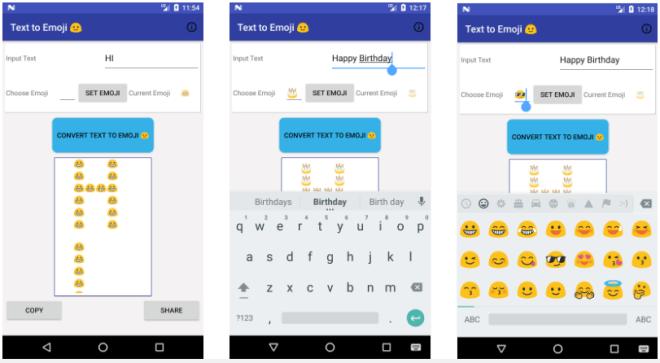 تطبيق Text to Emoji لتحويل النص إلى رمز تعبيري