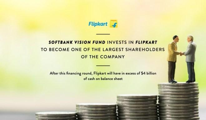 Softbank Vision Fund invests in Flipkart