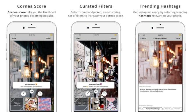 تطبيق Cornea لتقديم فلاتر غير محدودة وأداة تحليل ذكية للصور