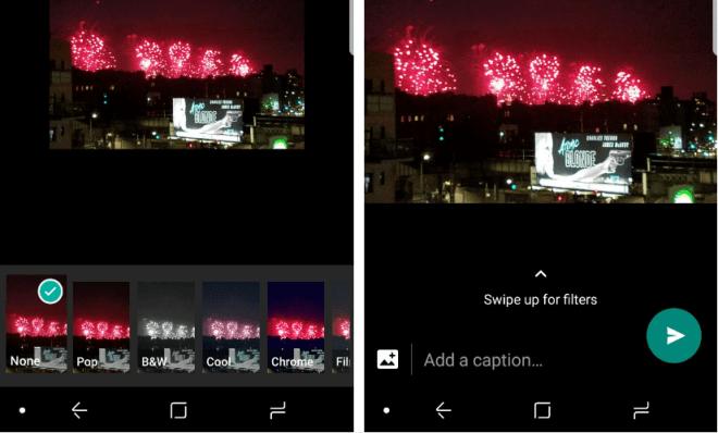 تحديث واتساب يأتي بفلاتر التعديل على الصور ومن ثم إزالتها