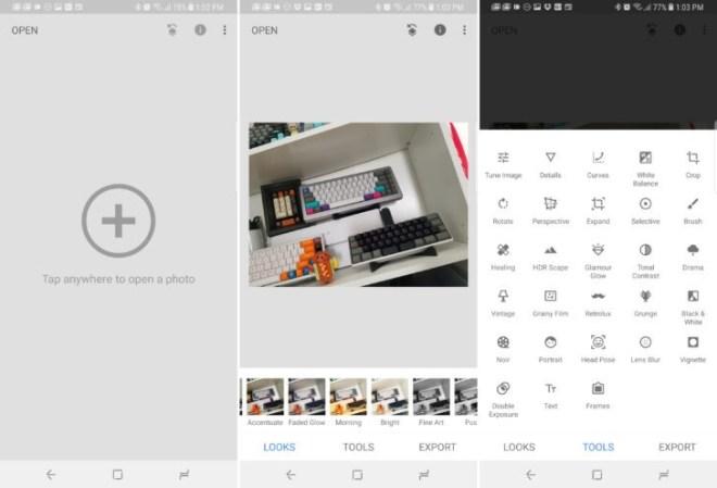 تطبيق معالجة الصور من قوقلSnapseed يأتي بواجهة جديدة كليًا