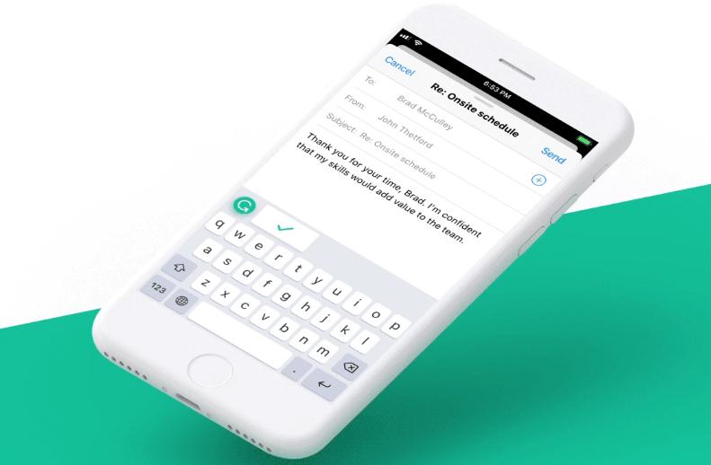 Grammarly تُطلق لوحة مفاتيحها على iOS