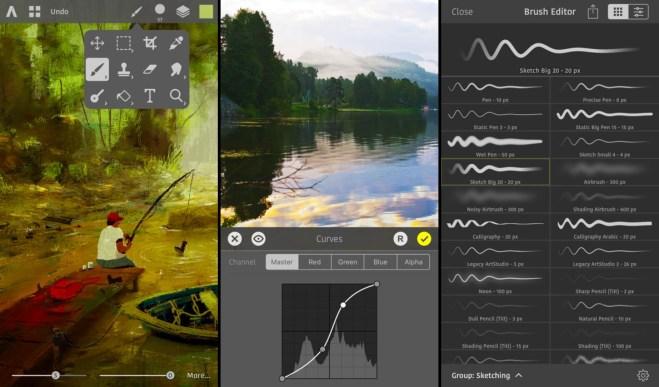 إطلاق تطبيق الرسم وتحرير الصورArtstudio Pro على iOS