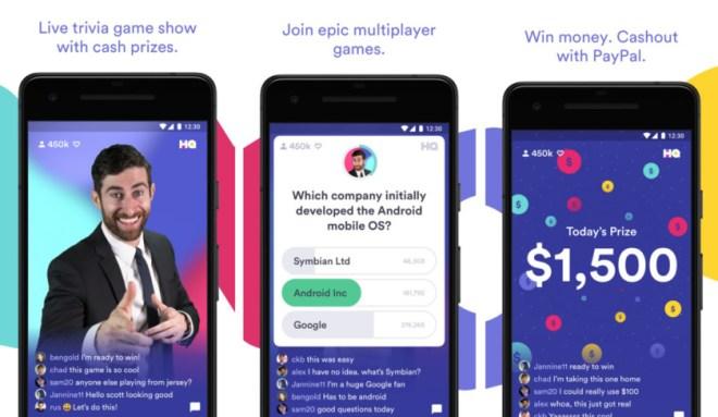 رسميًا تطبيق المسابقات وكسب الأموال HQ Trivia متاح على أندرويد