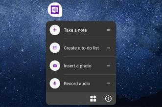 تحديثOneNote يدعم اختصارات التطبيق والتكامل مع Office Lens